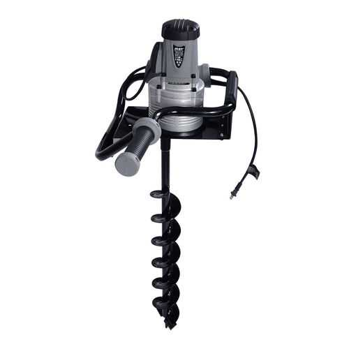 """1200W Electric 110V 1.6HP Post Hole Digger Earth Soil Ice w/ 4"""" Auger Bit"""
