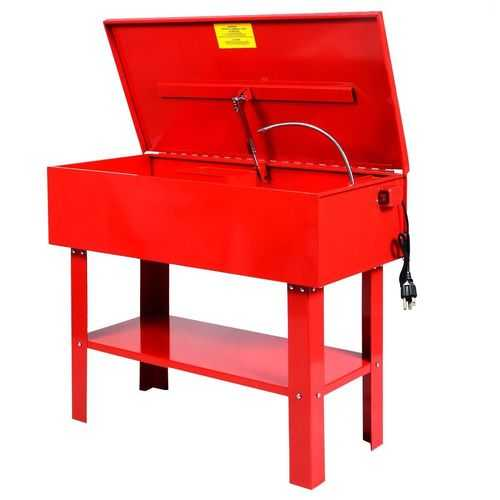 40 Gallon Parts Washer Electric Solvent Pump Shelf Tank