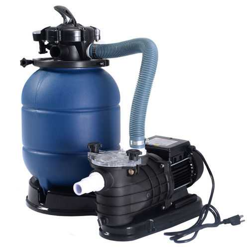 "Pro 2450GPH 13"" Sand Filter Above Ground 10000GAL Swimming Pool Pump"