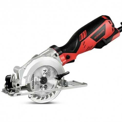 "Electric Mini 4-1/2"" Circular Saw Handheld Cutting Tool Accessory Kit"