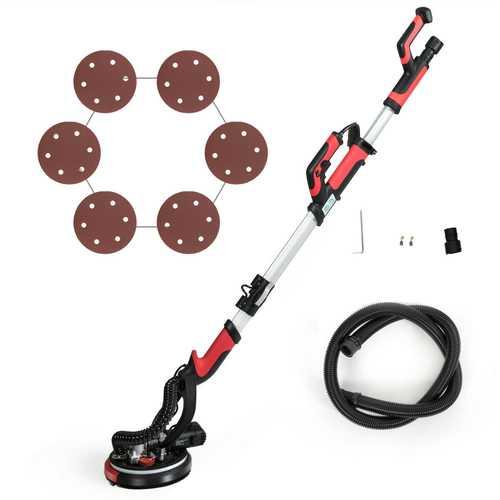 Electric Drywall Sander 750W Adjustable Variable Speed w/Sanding Pad