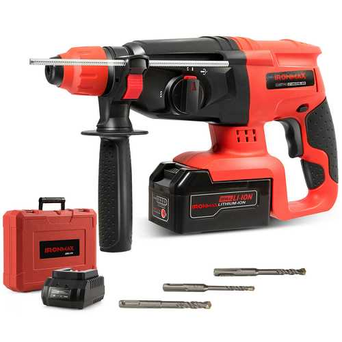 3 Functions 20 V Cordless Electric Hammer Drill
