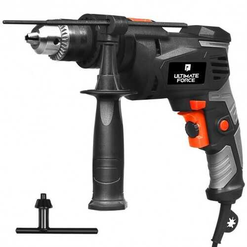 "1/2"" Electric Corded Impact Hammer Drill Variable Speed"