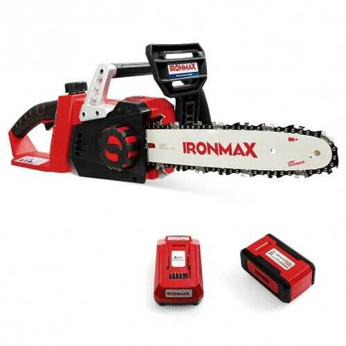12-Inch 40V Cordless Chainsaw with Lithium-Ion Battery
