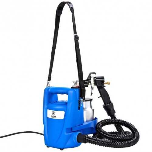 3-ways 650W Electric Painting Sprayer Gun W/Copper Nozzle+Cooling Sys - Color: Blue