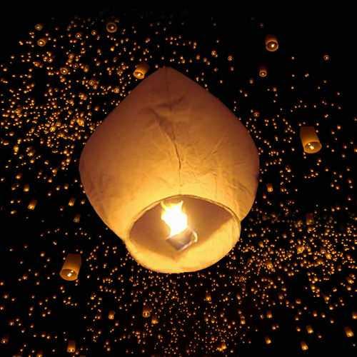 50 White Paper Chinese Lanterns