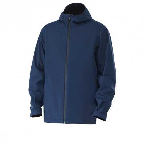 Men's Waterproof Rain Windproof Hooded Raincoat Jacket-Navy-L