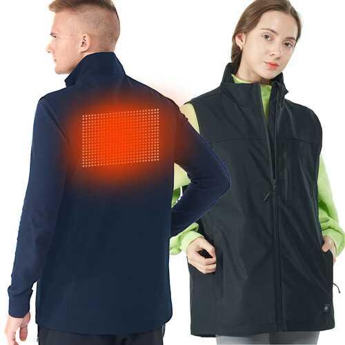 Men' & Women' Electric USB Heated  Sleeveless Vest-Black-XXXL