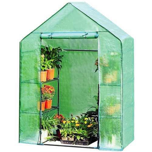 Portable Mini Outdoor Walk-in 8 Shelves Greenhouse