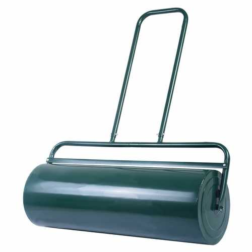 """36"""" x 12"""" Tow Lawn Roller Water Filled Metal Push Roller"""