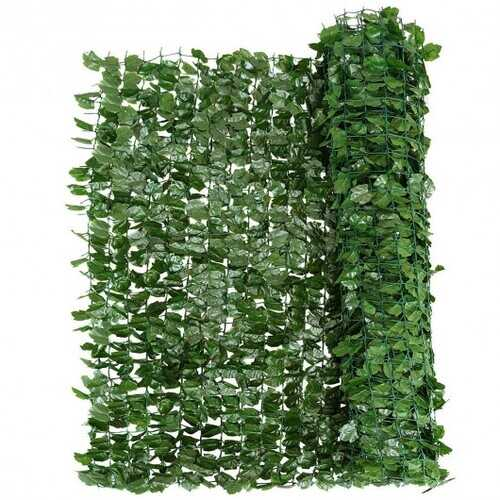 """Faux Ivy Leaf Decorative Privacy Fence-59"""" x 95"""""""