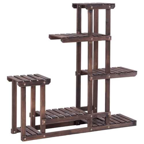 6 - Tier Wooden Plant Pot Stand Rack