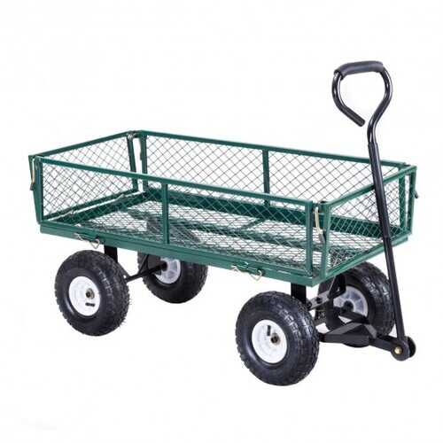 Heavy Duty Garden Utility Cart Wagon Wheelbarrow