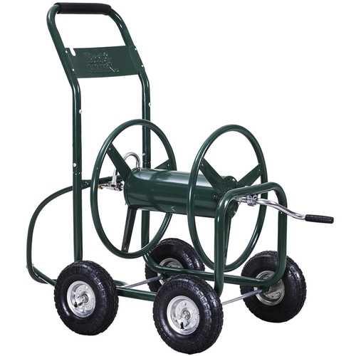 350 ft Garden Yard Water Planting Hose Reel Cart