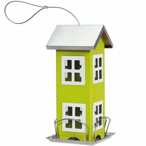 Outdoor Garden Yard  Wild Bird Feeder Weatherproof House-Green