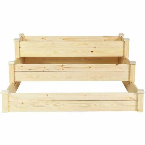 3 Tier Wooden Raised Garden Flower Vegetables Bed