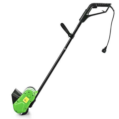 12-Inch 9 Amp Electric Corded Snow Shovel Driveway Yard Snow Thrower-Green