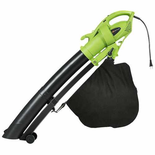 7.5 Amp 3-in-1 Electric Leaf Blower Leaf  Vacuum Mulcher 170MPH