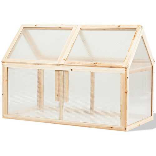 Outdoor Indoor Garden Wooden Cold Frame Greenhouse