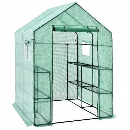 Walk-in Greenhouse 56'' x 56'' x 77'' Gardening with Observation Windows