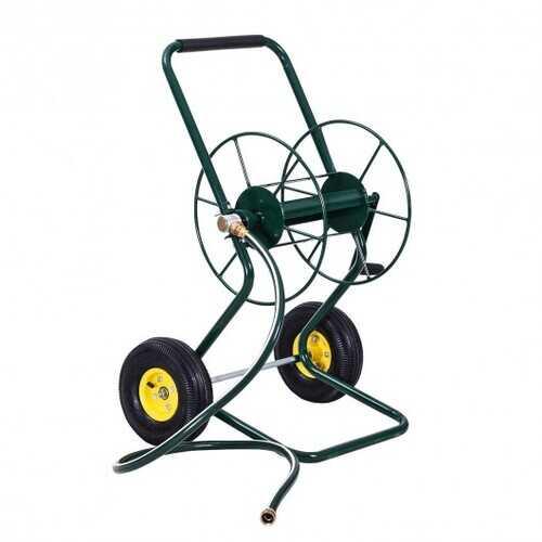 Garden Steel Frame Wheeled Hose Reel Cart