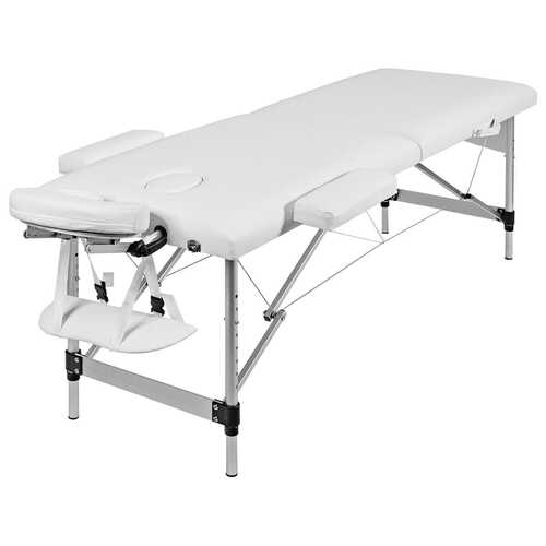 "72""L Portable Massage Table w/ Free Carry Case-White"
