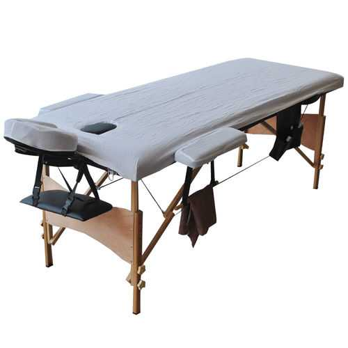 "84""L Portable Massage Table with Sheet Cover"