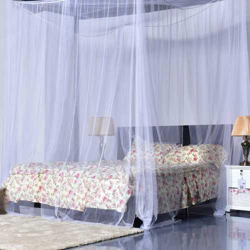 4 Corner Post Full Queen King Size Bed Mosquito Net