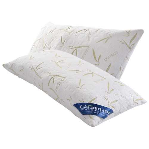 Set of 2 Shred Memory Foam Hypoallergenic Pillows w/ Bag