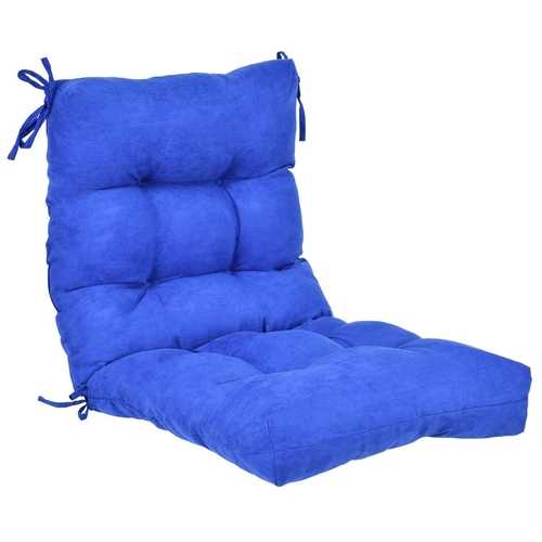 """42"""" Indoor Outdoor Tufted Chair Cushion"""