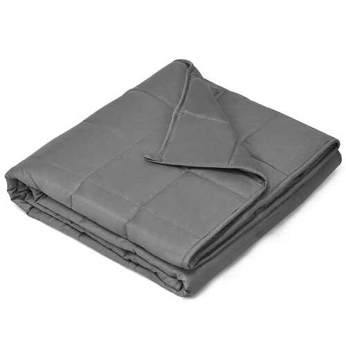 """7 lbs 41"""" x 60"""" 100% Cotton Weighted Blankets-Gray"""