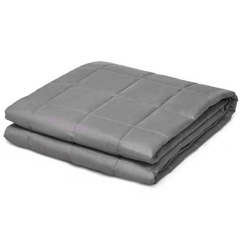 22 lbs Weighted Blankets 100% Cotton with Glass Beads-Dark Gray