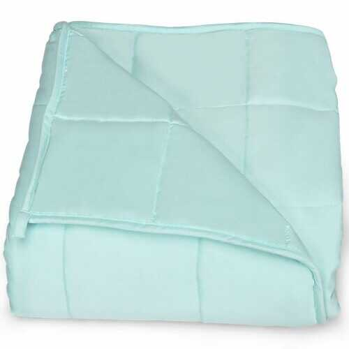 """10 lbs 41"""" x 60"""" Soft Cooling Breathable Premium Heavy Weighted Blanket"""