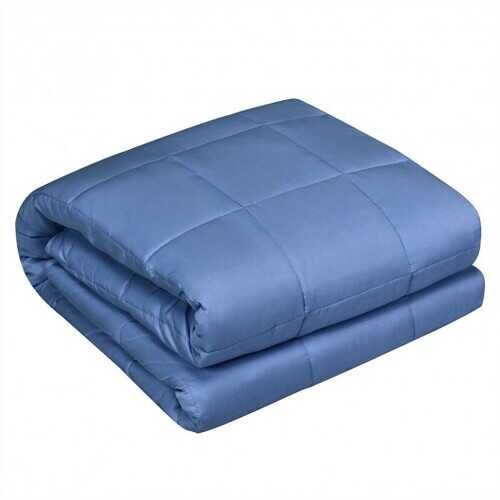 """15 lbs 48"""" x 72"""" Premium Cooling Heavy Weighted Blanket-Blue"""