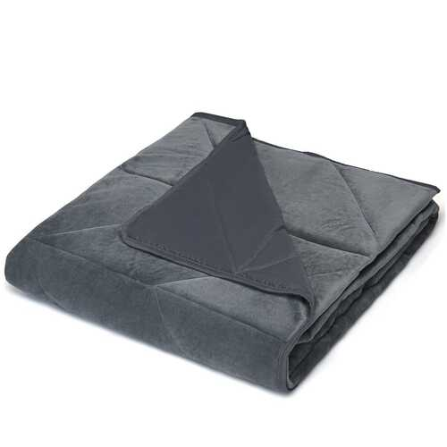 Crystal Velvet Fabric Weighted Blanket with Glass Beads-17 lbs