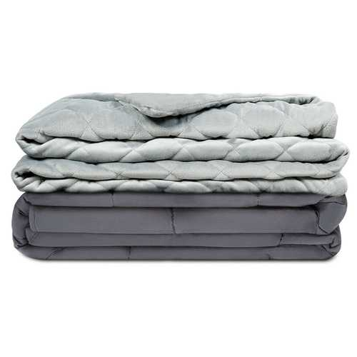 15 lbs 100% Cotton Weighted Blanket with Soft Crystal Cover