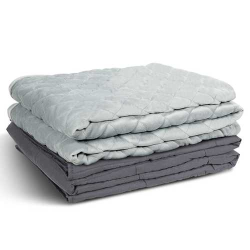 20 lbs 100% Cotton Weighted Blanket with Crystal Cover