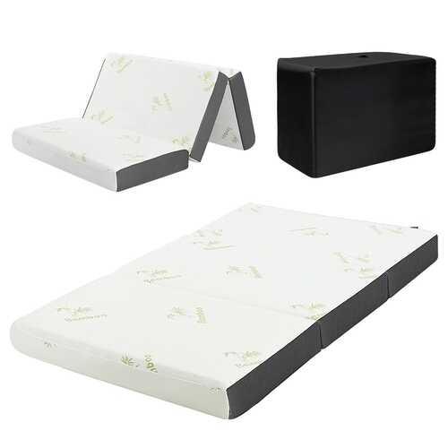 "6"" Full Size Tri-Folding Memory Mattress Sofa"