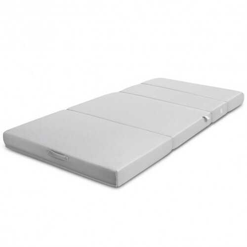 "4"" Tri-Fold Sofa Bed Foam Mattress with Handles-Twin size"