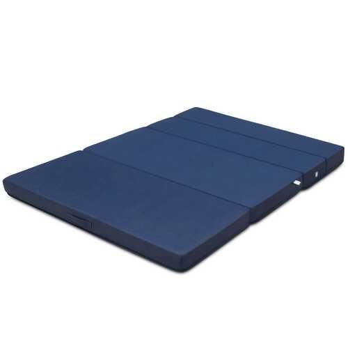 5' Quart Folding Futon Sleepover Sofa Bed Foam Mattress-Queen Size