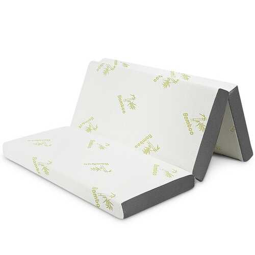 "4"" Queen Size Tri-Folding Memory Foam Mattress"