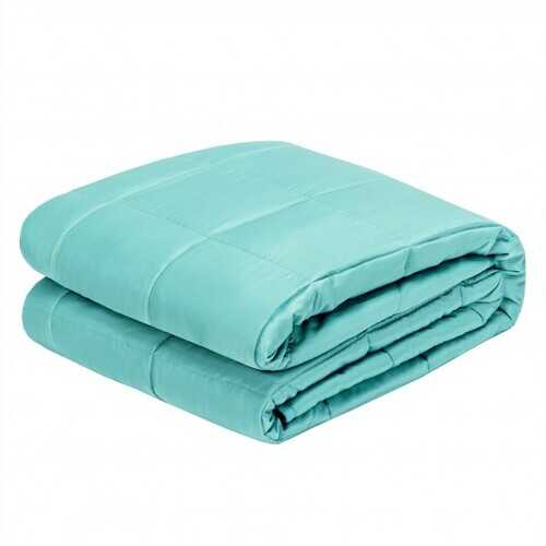 "15 lbs 60"" x 80"" Heavy Weighted Blanket Natural Bamboo Fabric Soft Breathable-Green - Color: Green"