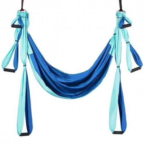 Swing Set Anti-Gravity Shaping Adjustable Yoga Belt-Blue - Color: Blue