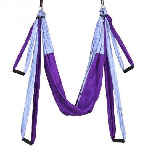 Swing Set Anti-Gravity Shaping Adjustable Yoga Belt-Purple - Color: Purple
