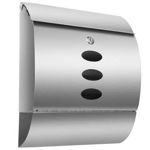 Stainless Steel Wall Mounted Cambered Mail Box with Newspaper Roll