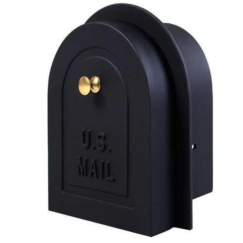 "8"" Brick Stone Stucco Mailbox Door - Cast Aluminum Replacement Doors Mailboxes"