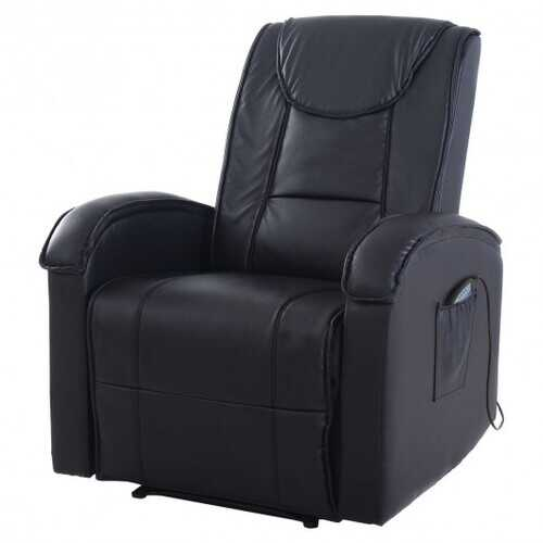 Ergonomic Massage Sofa Chair Electric Vibrating Recliner Lounge w/Control-Brown - Color: Brown