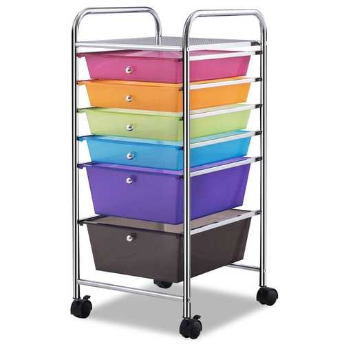 6 Drawers Rolling Storage Cart Organizer
