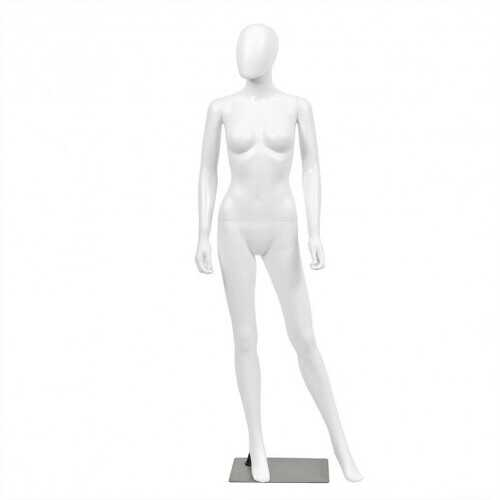 5.8 FT Female Mannequin Egghead Manikin with Metal Stand