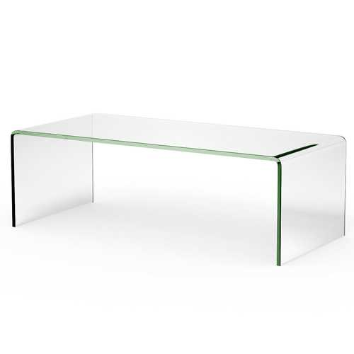 "42.0"" x 19.7"" Tempered Glass Coffee Table"